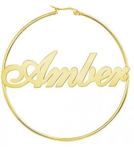 Custom Personalized Name Hoop Earrings