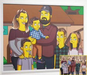 Custom Simpsons Family Portrait Poster