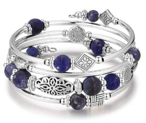 Layered Wrap Bangle Turquoise Bracelet