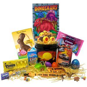 Dinosaur Easter Gift Basket For Kids