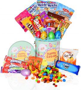 Easter Snack Gift Tin Basket -