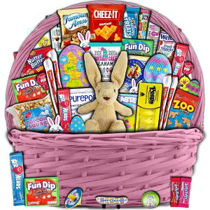 Pink Easter Basket for Kids and Adults (40ct)