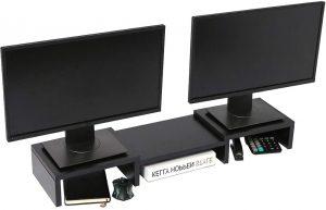 Superjare Dual Monitor Stand Riser