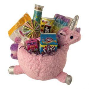 Easter Gift Basket for Girls Unicorn Themed Filled Gift Basket