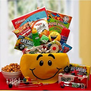 Fun Snacks and Activity Basket for Boys