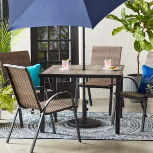 """Mainstays Heritage Park 40"""" Square Outdoor Patio Dining Table"""
